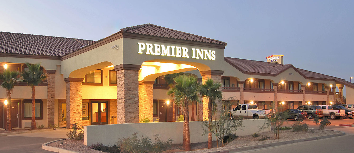 WELCOME TO PREMIER INNS TOLLESON A TOP-RANKED BUDGET HOTEL IN THE PHOENIX AREA NEAR PAPAGO PARK